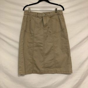 Christopher & Banks tan skirt